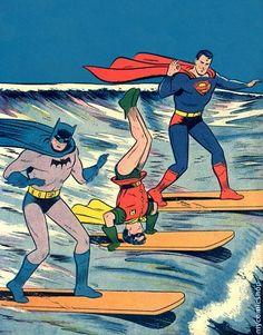 even superheros surf.