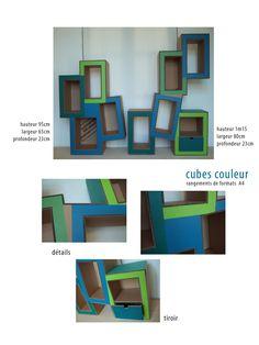 meuble en carton étagère