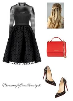Christmas party by crownof-floralbeauty19 on Polyvore featuring polyvore, fashion, style, Topshop, Christian Louboutin and Givenchy