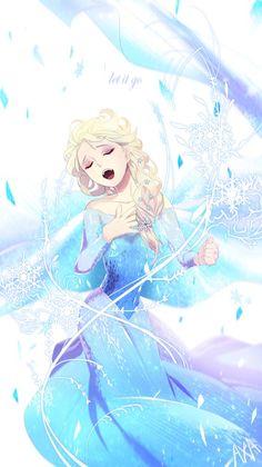 Elsa Frozen as an Anime charactor Walt Disney, Disney Films, Disney And Dreamworks, Disney Love, Disney Magic, Disney Art, Disney Pixar, Elsa Frozen, Frozen Art