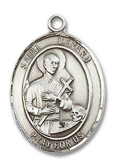 St. Gerard Patron Saint Medal (Sterling Silver) (Medium)