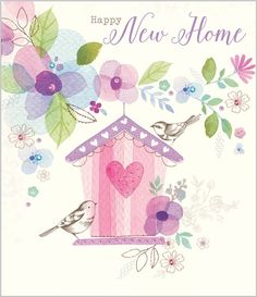 New Home - Bird House - Eleri Fowler for Abacus Cards - Greetings Cards, Gift Wrap & Stationery elerifowler.com