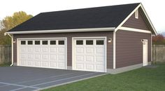 Simple Garage  If you need a simple detached garage layout we can design and build a 2, 3, or 4 car bay garage for you.