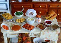 cute in miniature: Thanksgiving Dinner Prep Underway