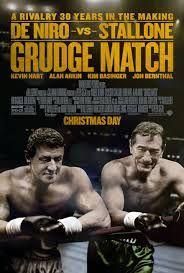 Título: Grudge Match Título original: Grudge Match Género: Acción Estreno: 2014 Censura: 12 años  Sinopsis: Gira en torno a dos leyendas del boxeo que se suben por última vez sobre el ring para enfrentarse en un combate épico.