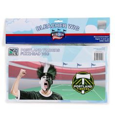 PORTLAND TIMBERS Fuzzhead Wig Fuzzy Head Hat Major League Soccer Fan Gag Gift #BleacherCreatures #PortlandTimbers