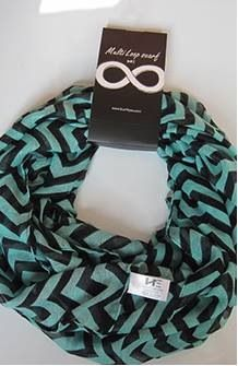Small Chevron Green and Black