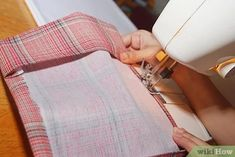 How to Sew a Fabric Book Cover: 9 Steps (with Pictures) - wikiHow de costura Paper Bag Book Cover, Paper Bag Books, Fabric Book Covers, Sewing Patterns Free, Free Sewing, Sewing Hacks, Sewing Tutorials, Sewing Tips, Create A Book Cover