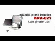 Solar Powered Security Light - Motion Solar Light - Maxsa 40227  Check http://solar-security-lights.com/order/