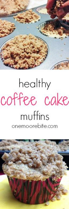 Healthy Coffee Cake Muffins | Lighter and better for you but with all the classic flavors of traditional coffee cake, topped mile-high with crumbly spiced streusel.