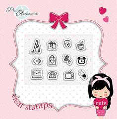 Clear Stamps Planner Stamps Photopolymer von EmelysPlannerShop