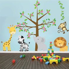 77  Decoracion Selva Infantil Nursery Wall Decor, Room Decor, Cardboard Animals, Safari Nursery, Safari Animals, School Projects, Pet Toys, Baby Room, Diy And Crafts