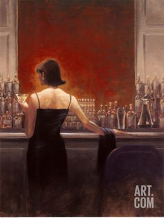 Evening Lounge Art Print by Brent Lynch at Art.com