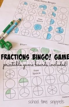 Fractions Bingo Game - This is such a fun, clever way to help kids learn about fractions with a math game grade)Math A Mathematics courses named Math A, Maths A, and similar are found in: Teaching Fractions, Math Fractions, Comparing Fractions, Finding Equivalent Fractions, Simplifying Fractions, Dividing Fractions, Teaching Math, Second Grade Math, Fourth Grade Math