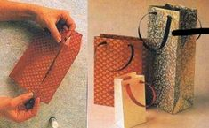Como fazer sacolas de papel passo a passo - Fora a produção artesanal de presentes, é interessante a