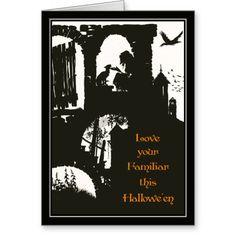 Vintage Halloween Arthur Rackham Witch + Black Cat