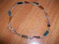 Vintage Rock Gem Necklace MM59 by MICSJWL on Etsy, $10.00