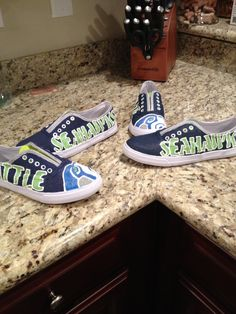 Custom made Seattle Seahawk shoes