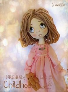 ♥ Lovely Pins Illustration ♥ // Loft // by Lilliput Loft Doll Clothes Patterns, Doll Patterns, Doll Making Tutorials, Doll Painting, Paperclay, Cute Teddy Bears, Bear Doll, Sewing Art, Soft Dolls