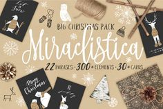 20%OFF Miraclistica Christmas Pack by Bantiq Vision on @creativemarket (aff) Christmas graphics, overlays and patterns.