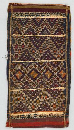 Cushion cover from the Berber, Beni M'guild people from the Middle Atlas Mountains in Morocco | ca. 1940 - 1960 | Wool and cotton.