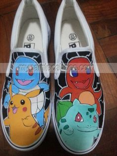 ab8255217982  Pokemon Custom Canvas Shoes Pikachu Sneakers Painted Canvas Shoes