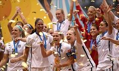 USA celebrate their victory over Japan.