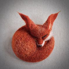 needle felted fox by The Lady Moth MADE to ORDER by TheLadyMoth