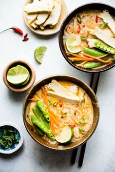 Hot & Sour Coconut Noodle Soup - one-pot vegan meal #healthy #veganfood