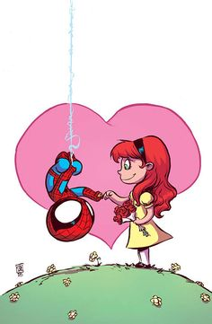 Amazing Spider-Man - Renew Your Vows variant cover by Skottie Young * - Visit to grab an amazing super hero shirt now on sale! Marvel Comics, Chibi Marvel, Marvel Art, Chibi Spiderman, Marvel Cartoons, Skottie Young, Comic Book Artists, Comic Artist, Comic Books Art