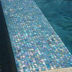Iridescent blue glass tile - Google Search
