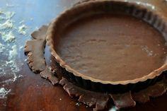 Čokoládové cesto na koláč, sušienky