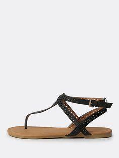 Shop Geo Cut Thong Sandals BLACK online. SheIn offers Geo Cut Thong Sandals BLACK & more to fit your fashionable needs.