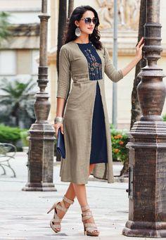 Best Kurtis Online Shopping - Buy Kurtis Online - Latest Kurti Design on Fabja Best Kurtis Online, Indian Designer Suits, Designer Kurtis, Designer Wear, Anarkali, Lehenga, A Line Kurti, Fancy Kurti, Latest Kurti