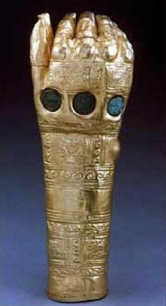 Incan gold glove  I think it is the Infinity Gauntlet of Thanos!
