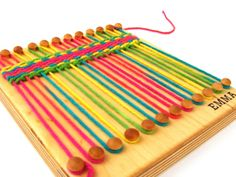 personalized wood weaving loom for kids crafts, on etsy