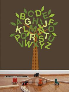 Alphabet Decal Tree for Nursery or Child Room ABC by UrbanTickle, $55.00