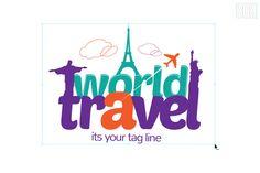 World Travel Logo by 808 on Creative Market