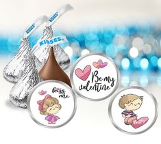 Items similar to Valentine's Day Stickers, Hershey Kiss Labels on Etsy Hershey Kisses, Party Favors, Valentines Day, Unique Jewelry, Handmade Gifts, Baby Shower, Stickers, Birthday, Fun