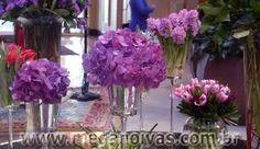 Resultado de imagem para decoração de casamento -cor lilás