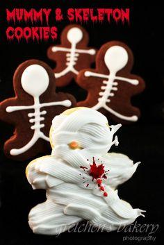 Easy Halloween Cookies! 1 recipe~ 2 kinds of cookies!