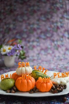 Butternut Squash Letters Name Cards DIY