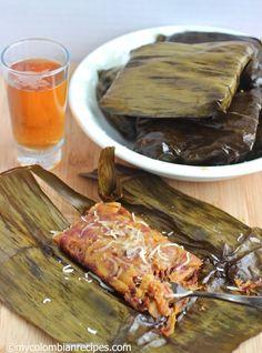 Envueltos de Plátano Maduro (Ripe Plantain Wraps) - use the recipe for Arepas Columianas in this board Colombian Food, Colombian Recipes, Plantain Recipes, Ripe Plantain, Empanadas Recipe, Good Food, Yummy Food, Caribbean Recipes, Latin Food