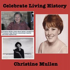 Put your hands up for Celebrate Living Historys favourite teachers aide! Christine Mullen
