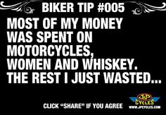 biker tip 5 Bike Quotes, Motorcycle Quotes, Bike Humor, Flat Track Motorcycle, Harley Davidson Quotes, Biker Boys, Badass Quotes, Bike Life, Quotes To Live By