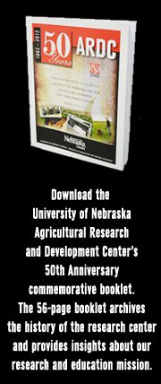 Download the University of Nebraska Agricultural Research and Development Cneter's 50th Anniversary commemorative booklet. The 56-page booklet archives the history of the research center and provides insights about our research and education mission.