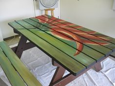 painted picnic tables - Google Search