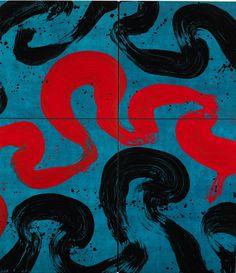 Fabienne Verdier - L'Art de la Calligraphie Monumentale - Monumental Calligraphy - Color Flows 1