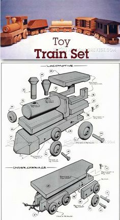 Wooden Toy Train Plans - Children's Wooden Toy Plans and Projects - Woodwork, Woodworking, Woodworking Plans, Woodworking Projects Wooden Toy Train, Wooden Toy Trucks, Wooden Car, Wooden Toys, Woodworking Projects For Kids, Woodworking Toys, Wooden Projects, Woodworking Chisels, Youtube Woodworking