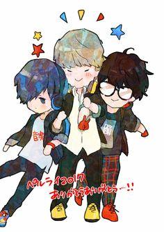 Minato, Yu, & Akira | Persona